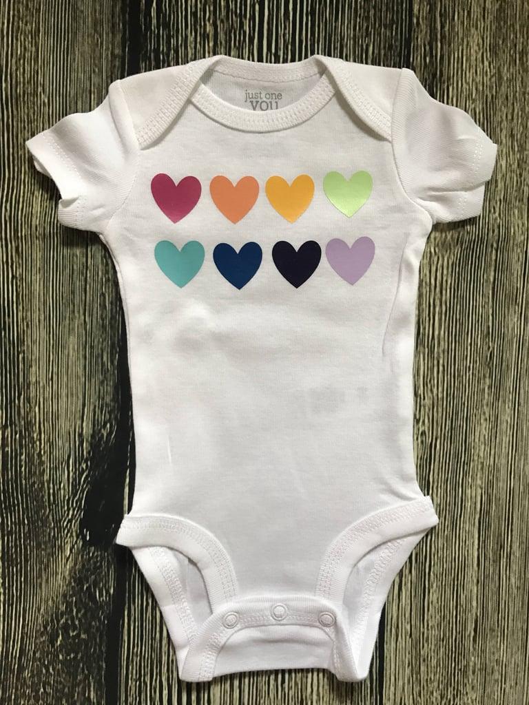 699dfcbfdd33 Rainbow Hearts Onesie