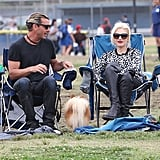 Gwen Stefani and Gavin Rossdale took in their son's soccer game.