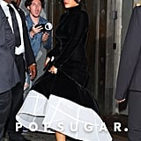 Rihanna Wore Her Givenchy Ballgown With Nike Sneakers