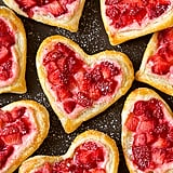 Heart-Shaped Strawberry Cream Cheese Breakfast Pastries