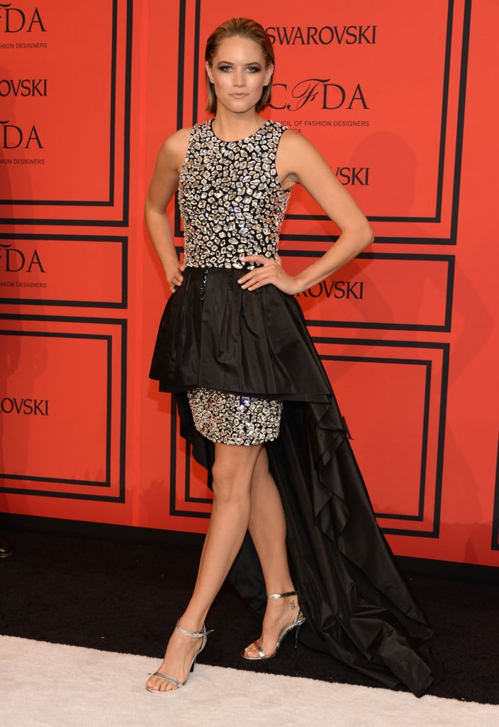 Cody Horn posed on the CFDA Fashion Awards red carpet.