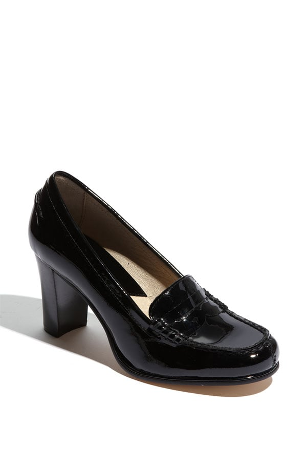 Polished patent leather will make these a snazzy addition to your every outfit.   Michael Michael Kors Bayville Loafer Pump ($98)