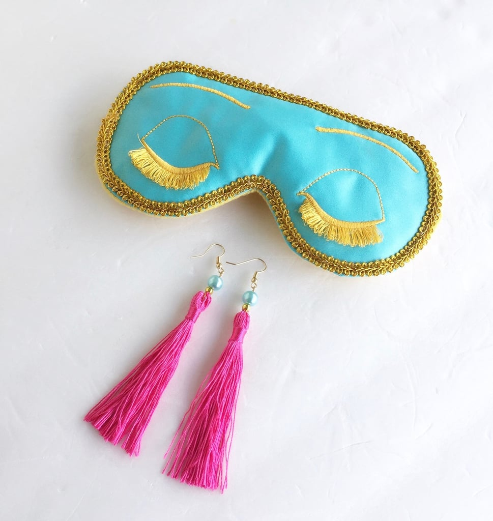 Big Little Lies Audrey Hepburn Earrings and Eye Mask Set