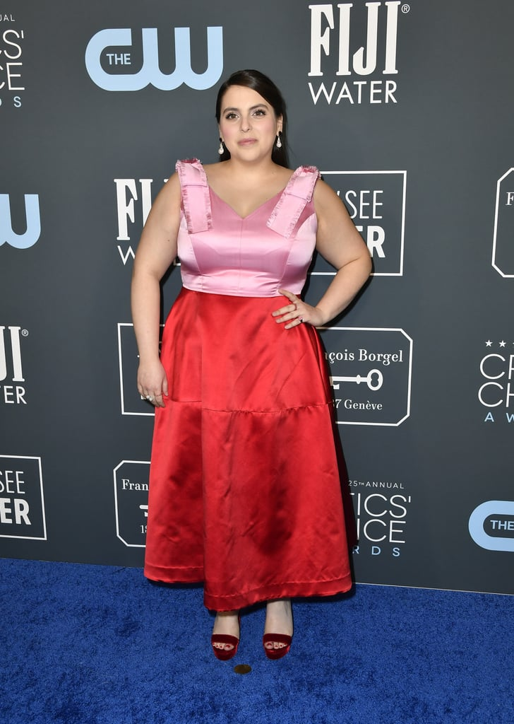 Beanie Feldstein Wearing Valentine's Day Colors at the Critics' Choice Awards