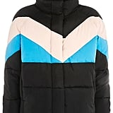 Topshop Colorblock Puffer Jacket