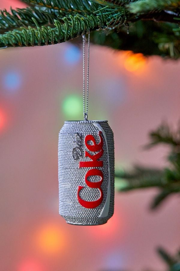 sparkle diet coke christmas ornament