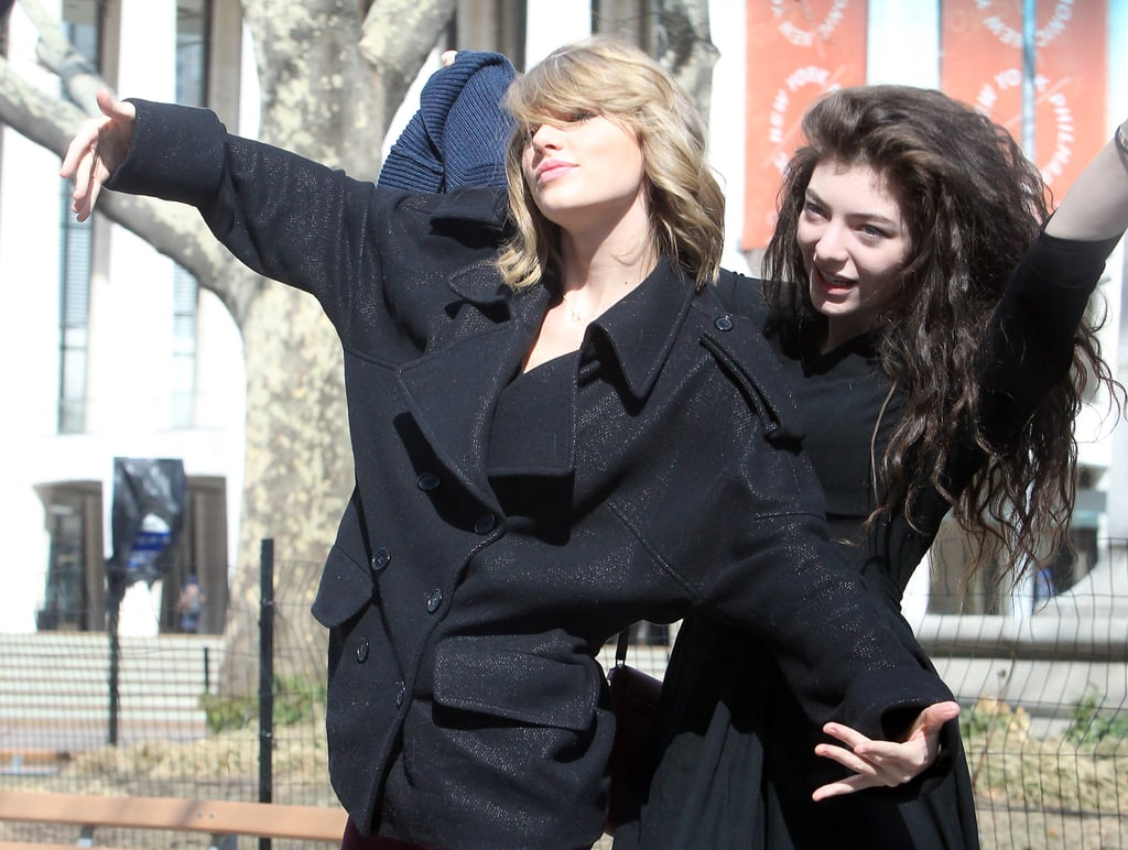 """Taylor Swift and Lorde took their friendship to NYC over the weekend, where the young music stars were captured re-enacting what looked like the iconic Jack and Rose scene from Titanic. It's the latest outing for the pair, who have made headlines for how quickly they changed from potential music rivals to BFFs. Off the back of the announcement that Lorde will be touring around Australia, the 17-year-old New Zealand native did an interview with the Kyle and Jackie O show on Monday morning, where Kyle Sandilands tried to press the singer for details about her friendship with Taylor. """"I see you guys' pictures everywhere; are you guys together now?"""" Kyle asked. He then added, """"Not together as in lesbians, I'm not talking about 'Ellen together,' I'm talking about, like you guys are friendly right?"""" Lorde shot back, """"What do you mean you're not talking about 'Ellen together'? Is there something wrong with lesbians?"""" When Kyle tried to push for more information, Lorde said, """"Don't even try it."""" In even more exciting news for Lorde, the """"Royals"""" singer has teamed up with Mac Cosmetics for a lip colour collaboration; the vampy lip she wore to the Grammys this year became one of the most coveted shades of the season."""