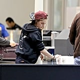 Kristen Stewart went through security.