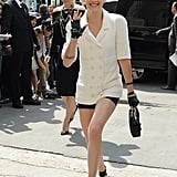 Who could forget the smiley moment when Kristen Stewart arrived at the Chanel show during Paris Haute Couture?