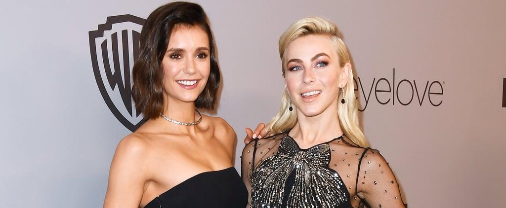 Nina Dobrev and Julianne Hough at Golden Globes After-Party