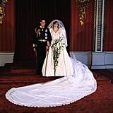 Diana Spencer in David and Elizabeth Emanuel, 1981