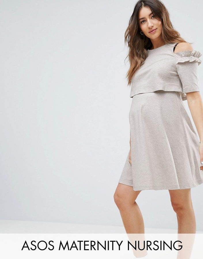 37ffdc817b519 ASOS Cold Shoulder Sweat Skater Dress | Maternity Clothes That You ...