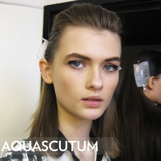 Aquascutum 2012 Beauty: Hair, Makeup, and Nails