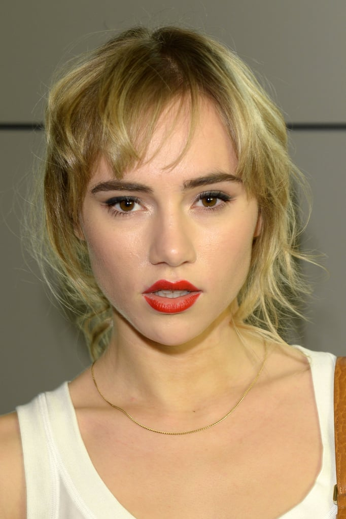 Suki Waterhouse at a DSquared2 cocktail party in Milan.