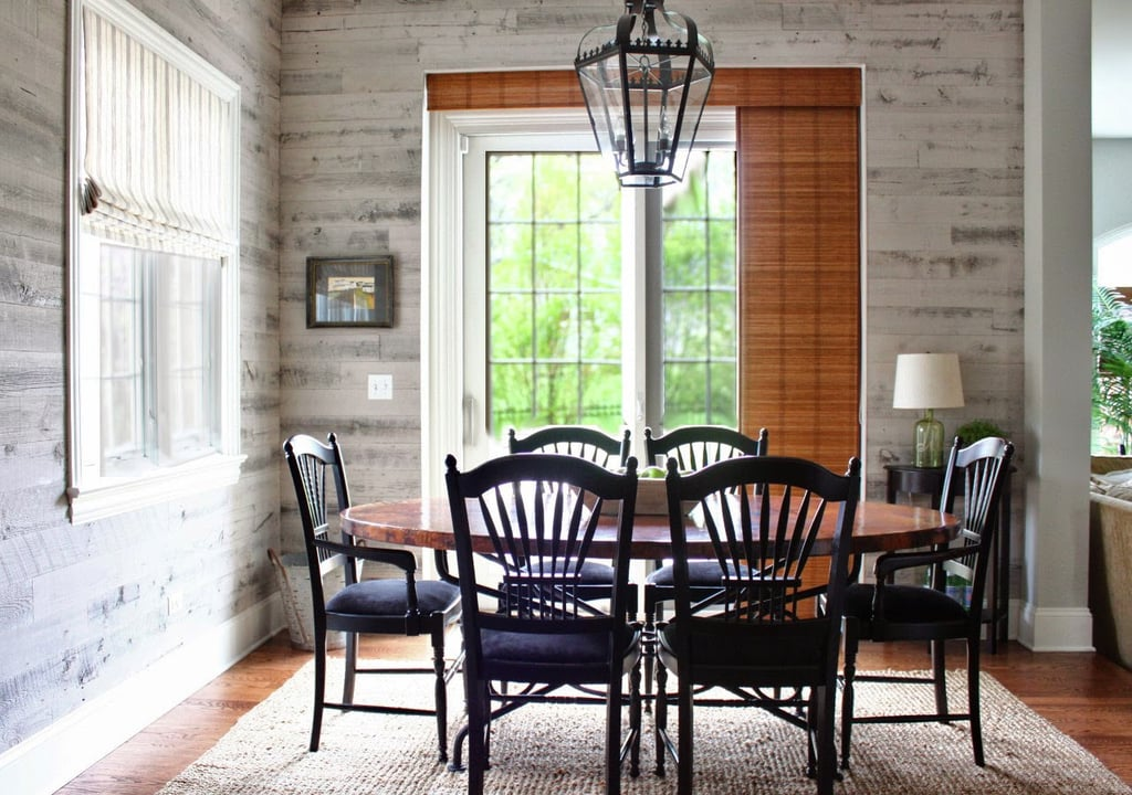 This Chic Dining Room Design Forwent Traditional Wallpaper