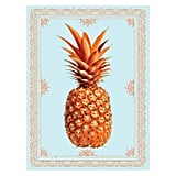 Fin & Ivy Pineapple Border Digital Art Print, $34.95