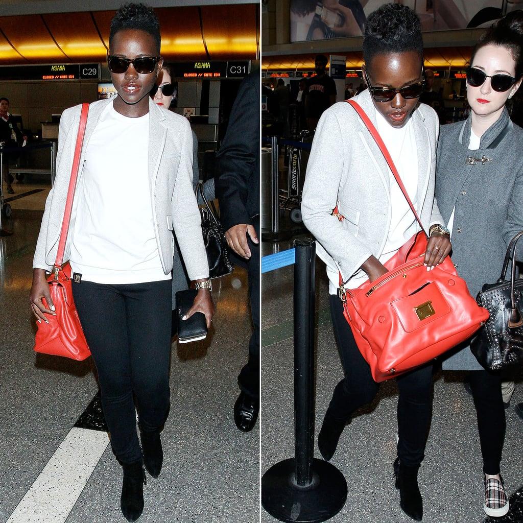 Lupita's Airport Style Includes Brand-New Miu Miu!