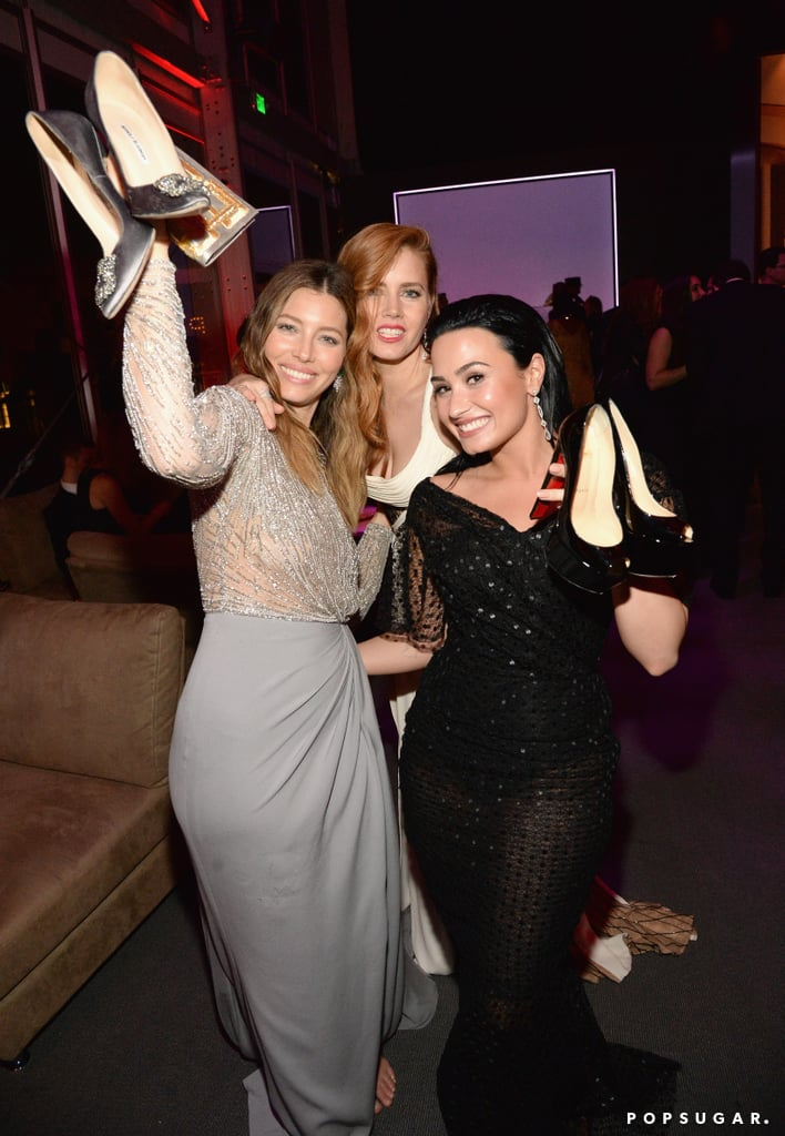 Pictured: Jessica Biel, Amy Adams, and Demi Lovato