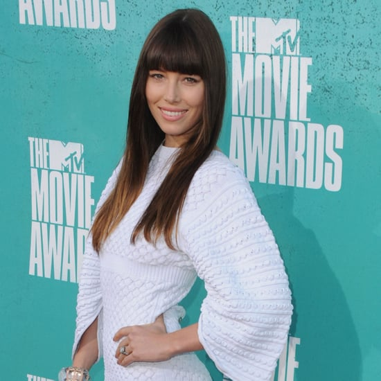 Jessica Biel Pictures in Chanel Dress at 2012 MTV Movie Awards