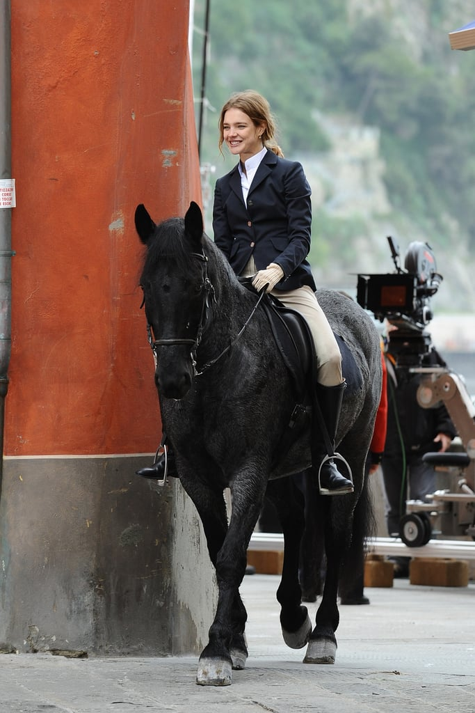 A First Peek at Natalia Vodianova Filming Belle du Seigneur with Jonathan Rhys Meyers