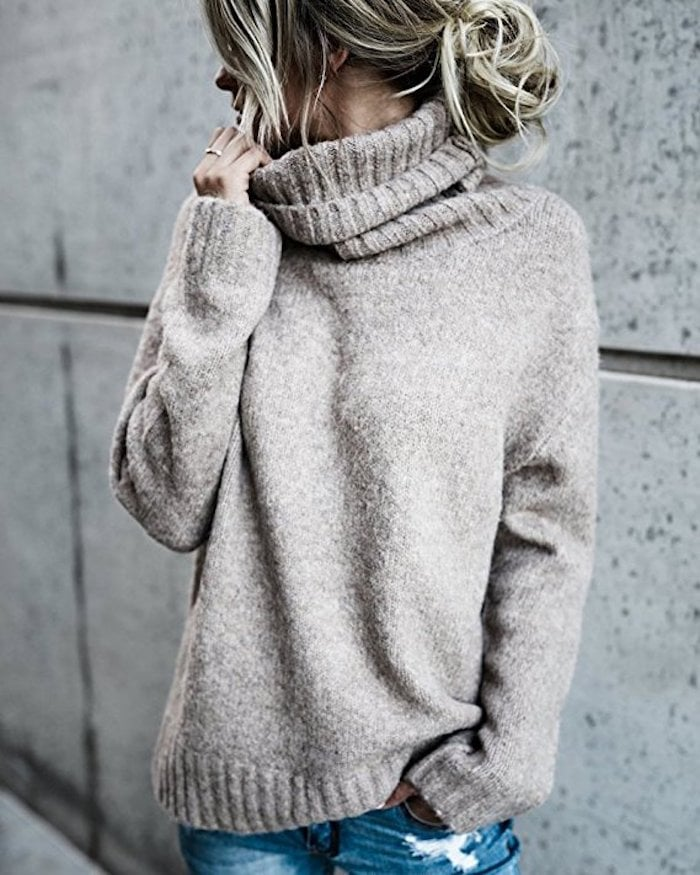 Fisace Oversized Turtleneck Pullover