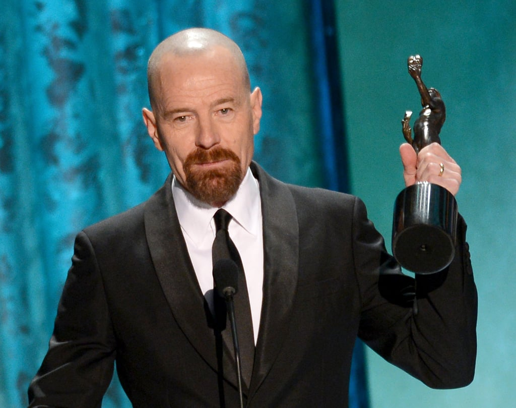 Bryan Cranston accepted his SAG for his outstanding performance in a   drama series.