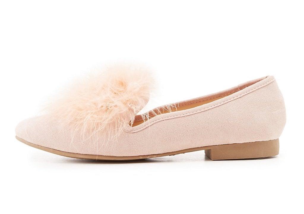 Charlotte Russe Faux Fur-Trim Loafers