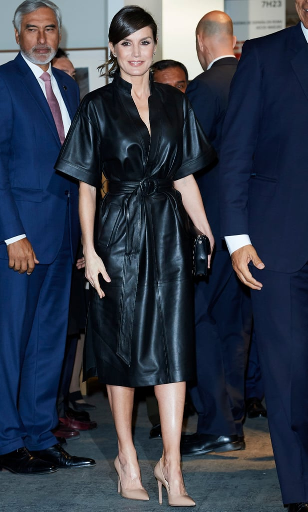 6217c61c1fbd Queen Letizia's & Other Stories Leather Dress | POPSUGAR Fashion
