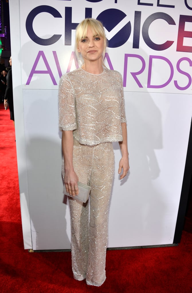 Anna Faris delivered a double dose of sparkle on the red carpet.