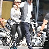 Chris Hemsworth had his arm around Elsa Pataky as they walked in NYC.