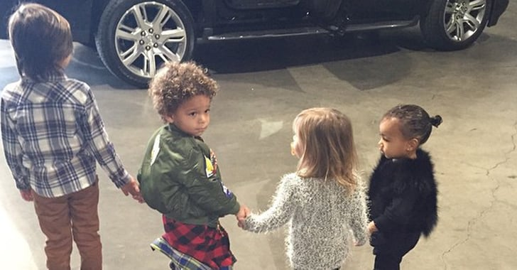 Kim Kardashian With North West And Her Cousins Popsugar