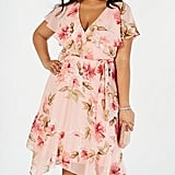 30c8d6f8e38d1 ... Maxi · Jessica Howard Plus Size Floral Capelet Dress · Express Floral  Surplice Cut-out Lace-up Back ...