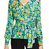 Halogen Faux Wrap Blouse