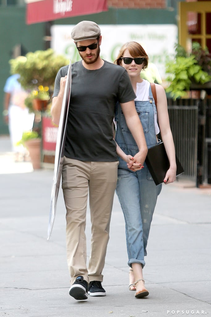 Andrew Garfield and Emma Stone held hands during their adorable outing in NYC on Saturday.