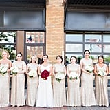 This all-cream bridal party chose gowns that complemented each other perfectly.