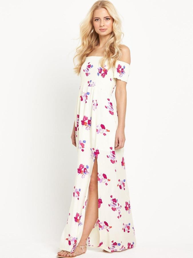 f9967f53ebe MinkPink Falling Blooms Off The Shoulder Maxi Dress (£68)