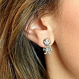 Ellie Ellie Sterling Silver Skeleton Studs