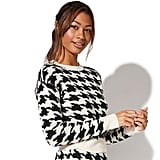 Vylette Houndstooth Crewneck Sweater