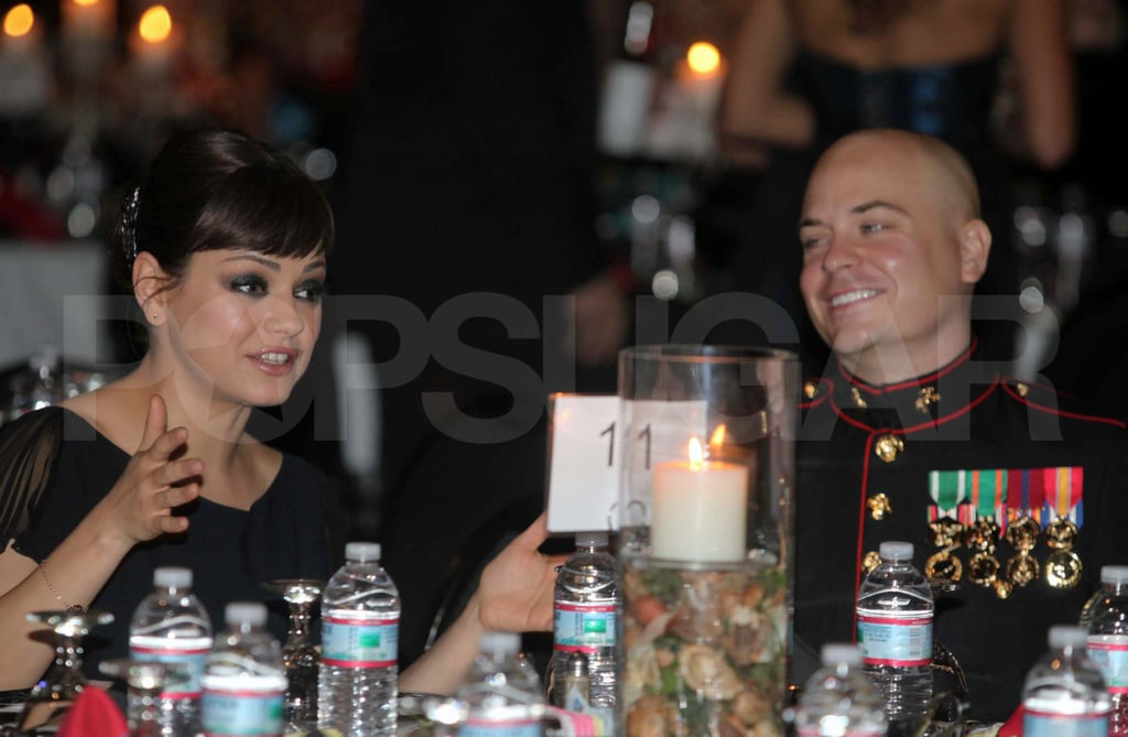 Mila Kunis at the Marine Ball.