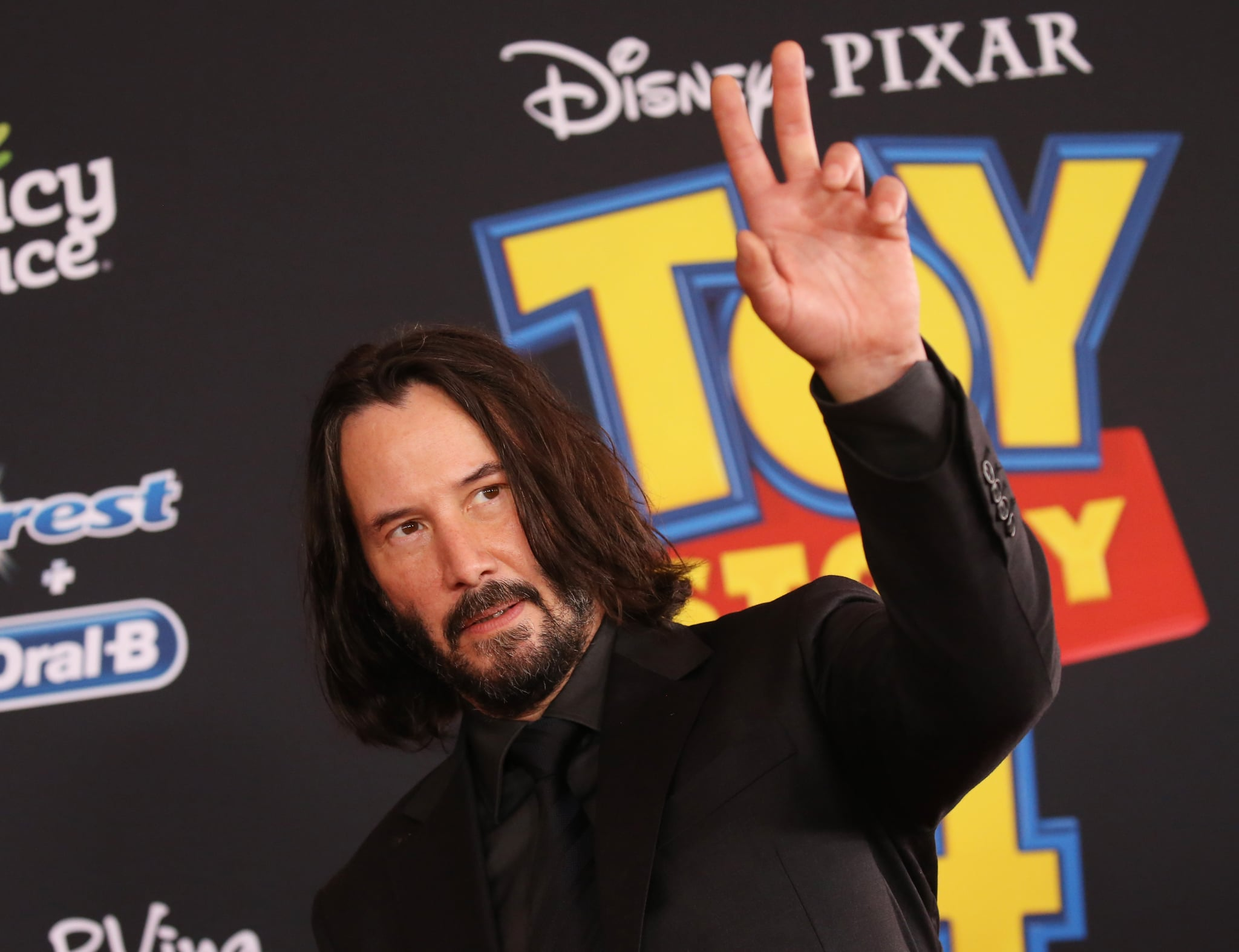 LOS ANGELES, CALIFORNIA - JUNE 11: Keanu Reeves arrives to the Los Angeles premiere of Disney and Pixar's