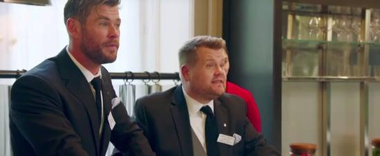 James Corden and Chris Hemsworth Battle of the Waiters Video