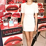Whitney Port worked the LWD trend like a mega hottie. The red lips, Jimmy Choo sandals, and Scott Mikolay lace drop earrings look smashing on her.