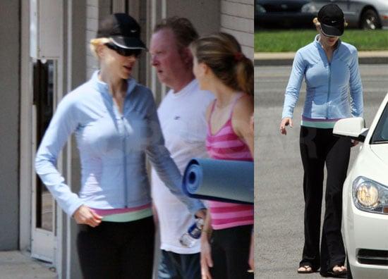 Photos of New Mom Nicole Kidman Leaving a Yoga Class