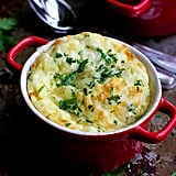 Make-Ahead Baked Eggs With Courgette and Gruyere Cheese