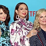 Tina Fey, Maya Rudolph, and Amy Poehler as the Three Fates