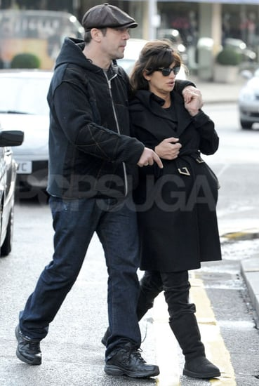 Pictures of Javier Bardem Visiting the President's Office in Madrid, Spain