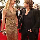 Nicole and Keith held hands on the red carpet at the Grammy Awards in Feb. 2013.