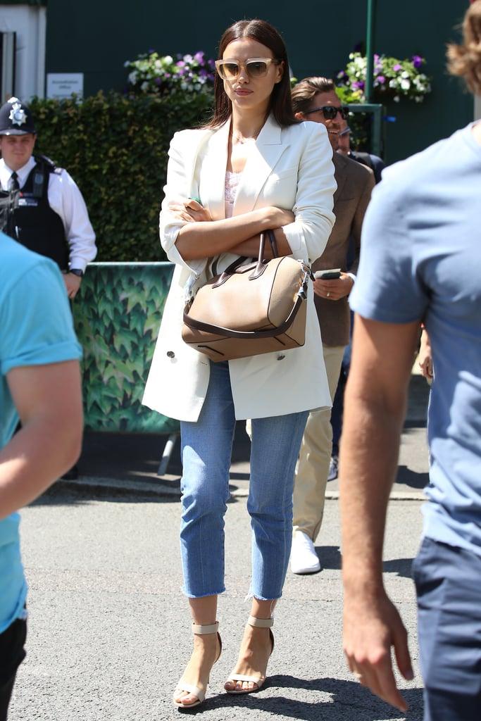 Irina Wore a Simple, Polished Look to Wimbledon