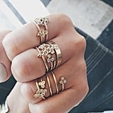 "Stacked ""Honeycomb"" Rings"