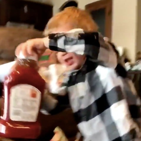 Video of Boy Getting Ketchup For Christmas
